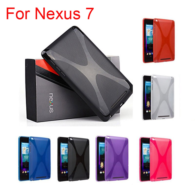 High quality Soft X Style Design Silicone Cover for Google nexus 7,X Line TPU Gel Skin case for Google nexus 7 1Gen стоимость