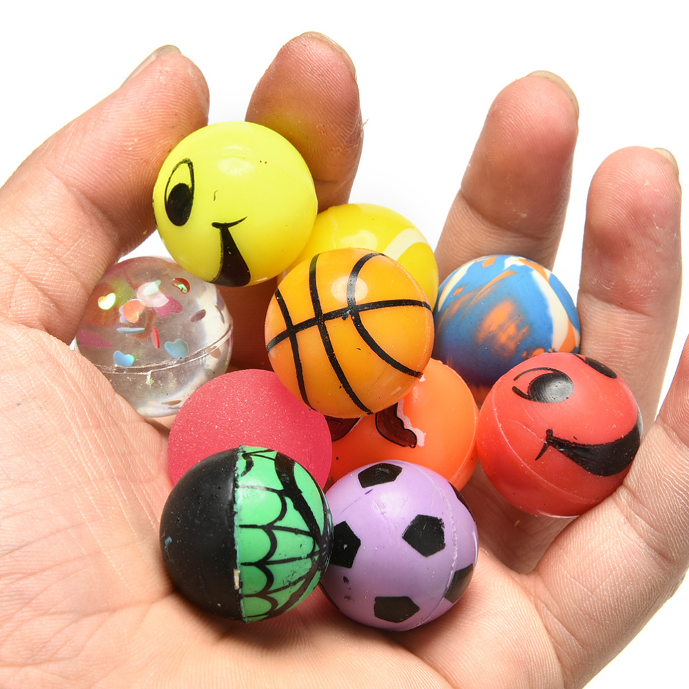 Toy Rubber Balls : Pcs lot toy ball mm mixed bouncy child elastic