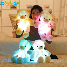 Kreatif Light Up LED Bear Boneka Plush Toy Colorful Bercahaya Beruang Hadiah untuk Anak-anak Dekorasi Rumah 32 Cm/ 50 Cm/75 Cm(China)