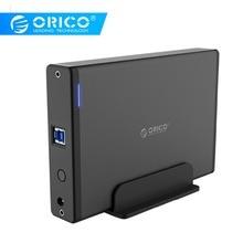 ORICO алюминиевый 3,5 дюймовый жесткий диск HDD корпус USB3.0 для SATA3.0 HDD чехол док-станция Поддержка UASP 12V2A мощность