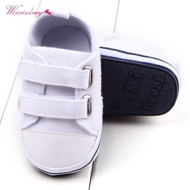 WEIXINBUY Canvas Baby Shoes Newborn Boys Girls First Walkers Infant Toddler Soft Bottom Anti-slip Prewalker Sneakers 0-12M 5