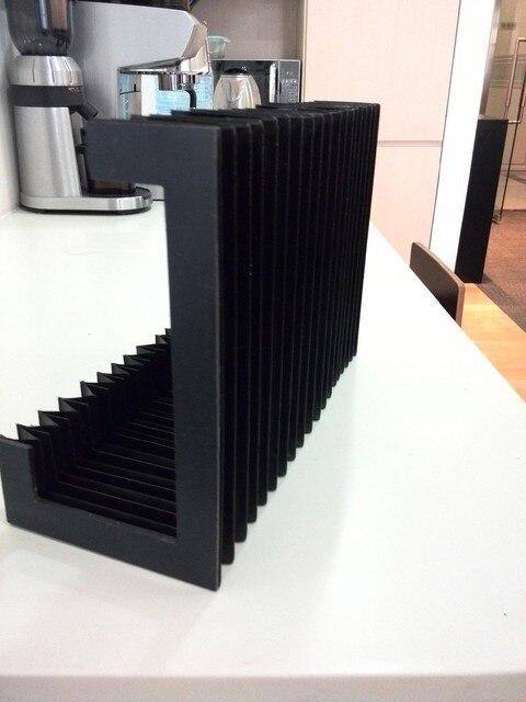 Lmax1250mm zahnstangen schiene schutz faltenbalg abdeckung, width220mm x height105mm