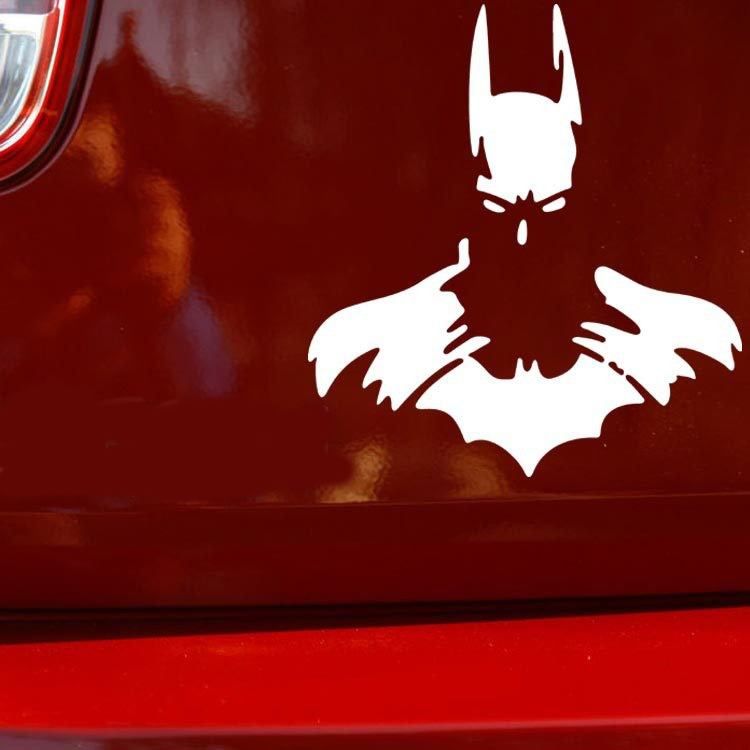 Classic Batman Figure Stickers Decor Travel Luggage Sticker Styles Bumper Wall Car Vinyl Decals Windows Motorcycle (12*11cm)