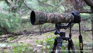 Image 3 - ROLANPRO Camera Lens Coat Camouflage AF S 200 500mm f/5.6E ED VR Lens protective case guns clothing For Nikon