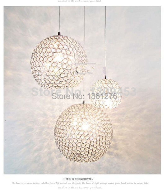 Minimalist Modern K9 Crystal Chandelier Bedroom Living corridor study Lighting Restaurant Crystal Ball Lamps