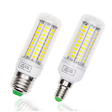 E14 LED Lamp E27 LED Bulb 220V 5730 Corn Light Lampada LED Bulbs Chandelier Candle For Home Decoration Replace filament Light(China)