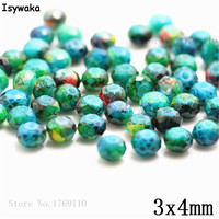 Isywaka 3X4mm 30,000pcs Rondelle Austria faceted Crystal Glass Beads Loose Spacer Round Beads Jewelry Making NO.24
