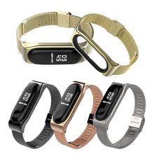 fitness tracker fitness bracelet Stainless Steel Bracelet Replacement Watch Band Strap For Xiao Mi Band 3 smartwatch(China)
