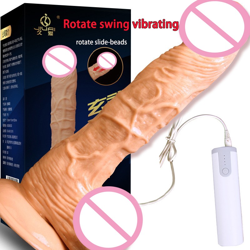Rotating Squirm Vibrating Dildo Big Dick Realistic Penis Vibrator Sex Toys For Woman Soft Dildo Suction Cup Dildos For Women usb heated dildos suction cup dildo realistic vibrator dildo foreskin big dick male artificial penis vibrator sex toy for woman