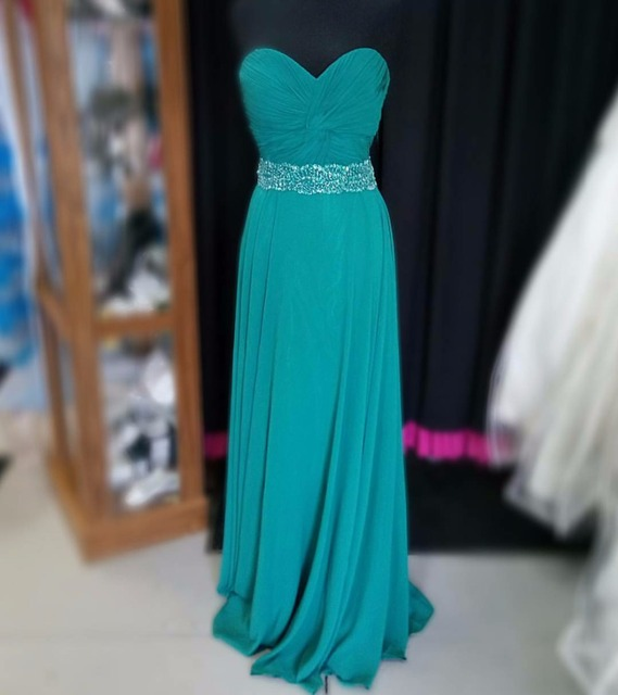 Silver Royal Blue Chiffon Dress
