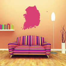 Korea map Globe Earth Country wall vinyl sticker custom made home decoration fashion design