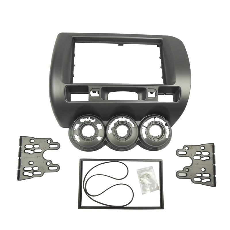 For Honda Jazz One / Double Din Radio DVD Stereo CD Panel Dash Right Wheel Facia Mount Installation Trim Fascia Kit Frame Bezel сарафан