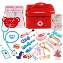 Children Pretend Doctor Toy Set Durable Nurse Injection Tool Wooden Simulation Medicine Box Sturdy Gift Case