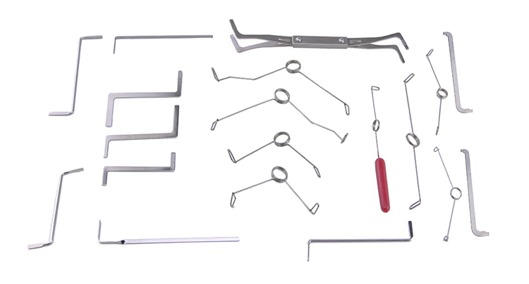 19 in 1 Multifunction Spring Wrench Tension Set locksmith tools Stainless Steel Tension Wrench/Puch Rod Tools locksmith supplies