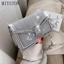 Women's Designer Rhinestone Handbag PU Leather Chain Crossbody Shoulder Bags Women Handbags