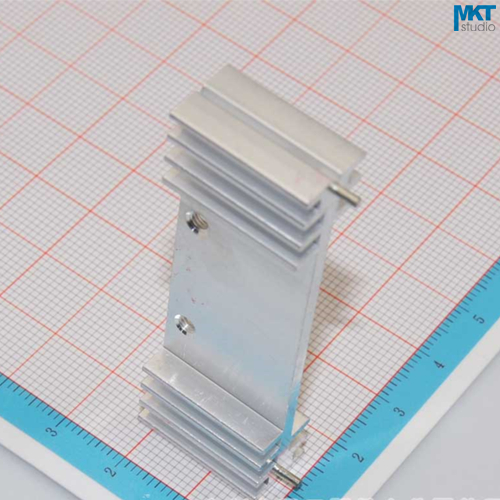 100Pcs 60mmx11mmx20mm Pure Aluminum Cooling Fin Radiator Heat Sink
