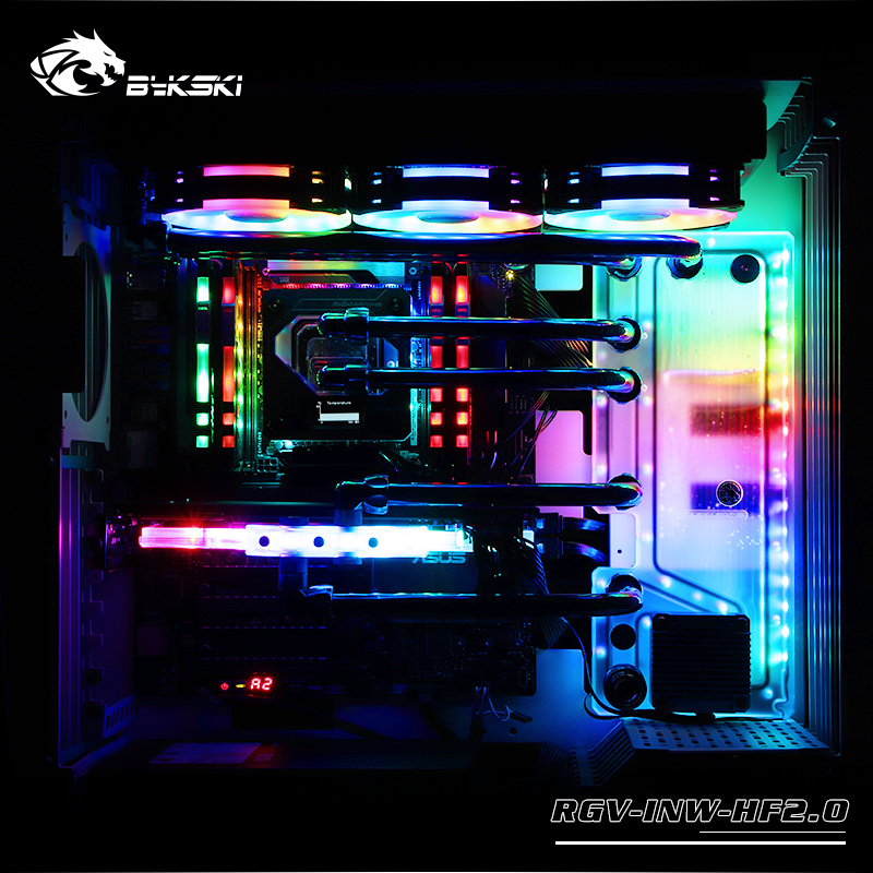 3pin 5v D-rgb Audacious Bykski Acrylic Tank Use For In Win H-frame2.0 Computer Case Combo Ddc Pump Cool Water Channel Solution