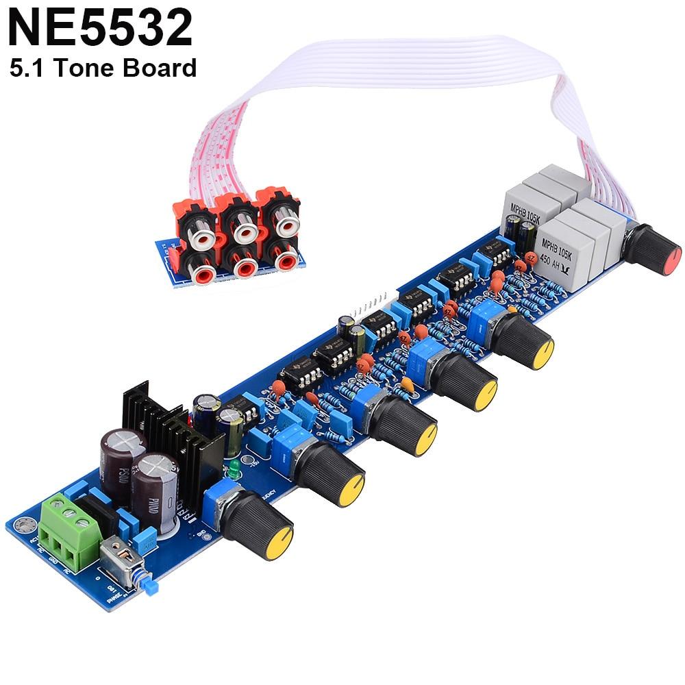 цена на AC15V-0-AC15V HIFI Preamplifier Board 5.1 Volume Control Panel Volume Tone EQ Control Board DIY Kits Free Shipping 12003200