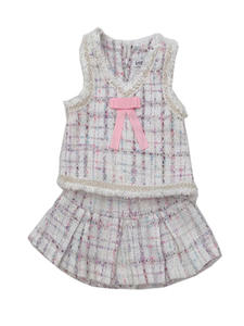 Suit Two-Piece Vest Spring Girls Autumn Fashion Children's And Small Z Skirt Short Short
