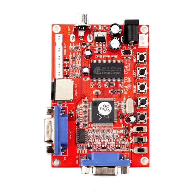 VGA TO CGA CVBS S-VIDEO CONVERTER Board PC to VGA GBS-8100 Video Game Converter