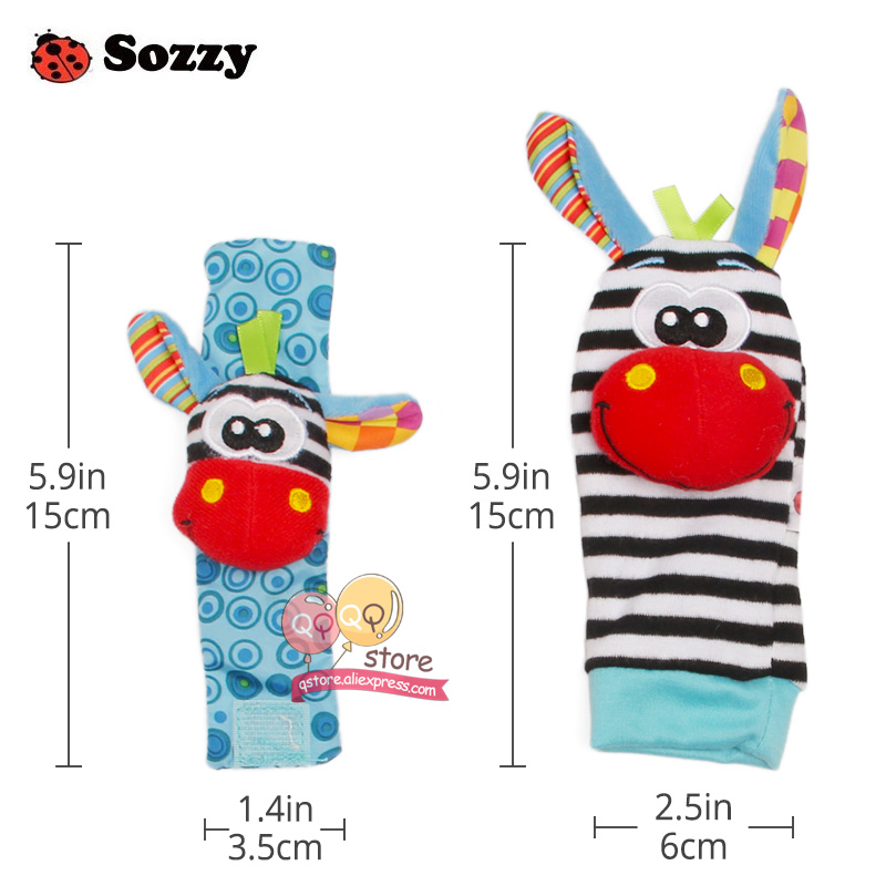 Sozzy-4pcs-Zebra-Baby-bebe-Infant-Wrist-and-Socks-Rattle-Bell-Foot-Finders-Set-Educational-Soft-Christmas-Gift-Toys-for-Children-5
