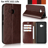 Deluxe Wallet Case For HTC U11 Life Premium Pu Leather Phone Case Flip Cover Holster Phone