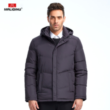 MALIDINU Brand New 2017 Winter Mans Thicken White Duck Down Jacket Coat Hood Parka European Size Free Shipping M1350