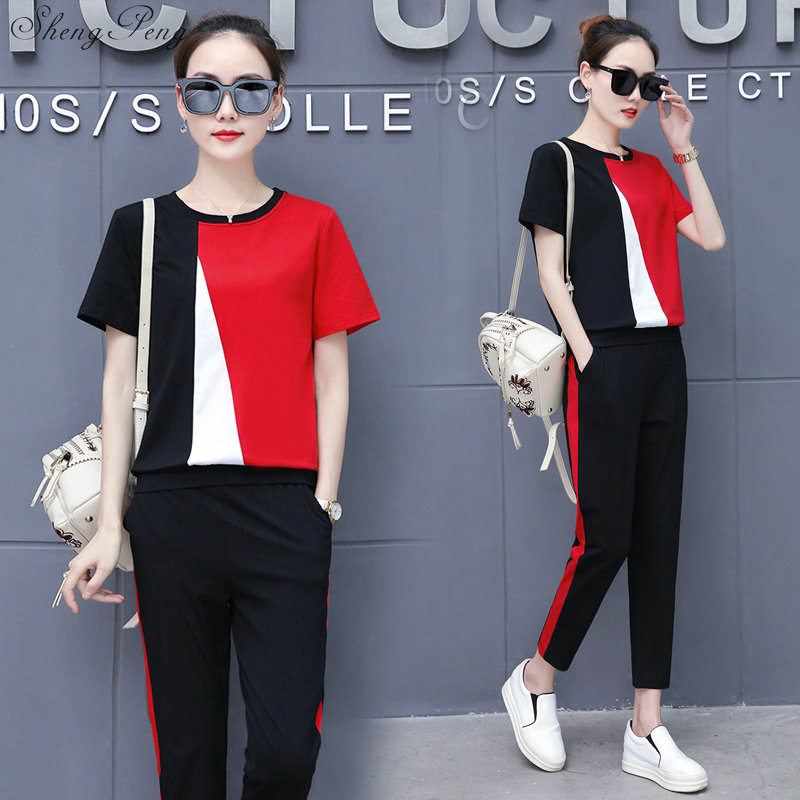 Track suit female Sexy Two 2 Piece Set Women Sweatsuits Pant And Top Tracksuit Set Suits