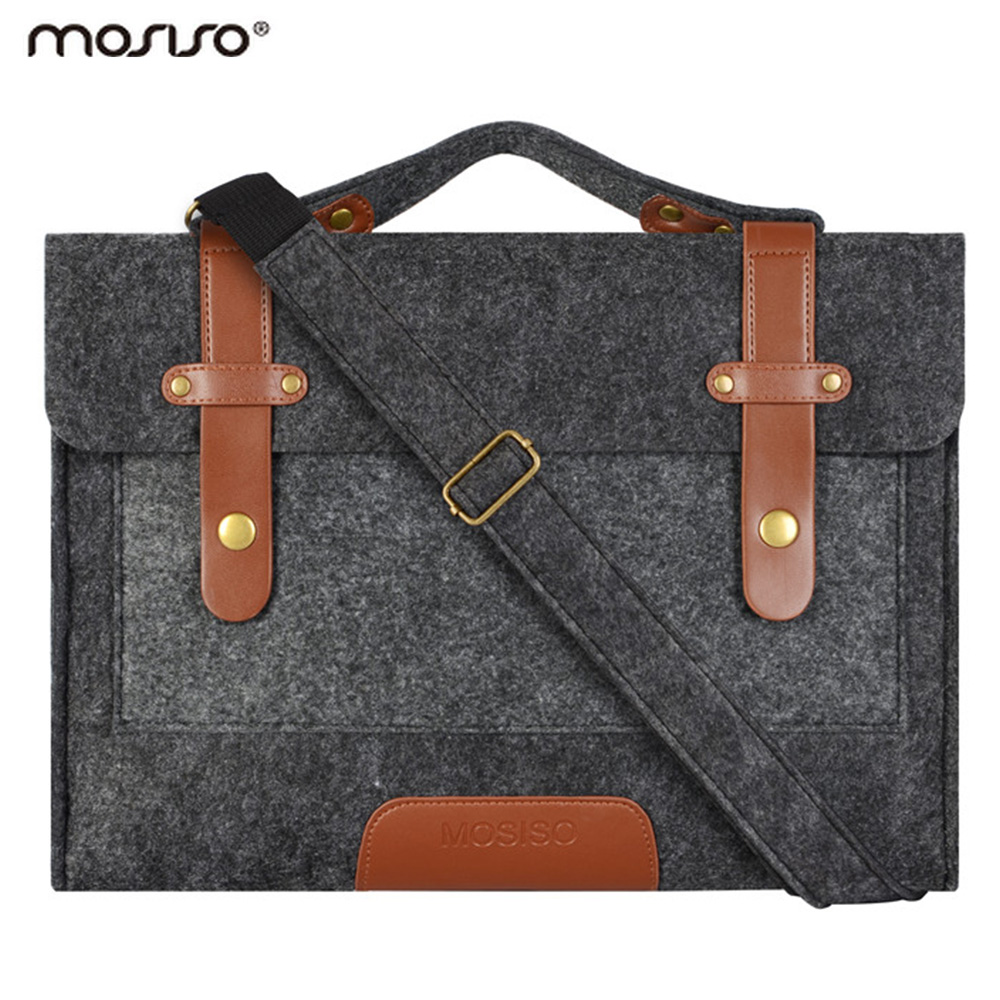 Mosiso Felt Laptop Shoulder Bag 11 6 13 3 15 6 inch Sleeve Cover Netbook Handbag