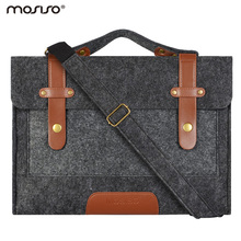 Mosiso Felt Laptop Shoulder Bag 11.6 13.3 15.6 inch Sleeve Cover Netbook Handbag Case for MacBook Air Pro 11 12 13 15 Asus HP