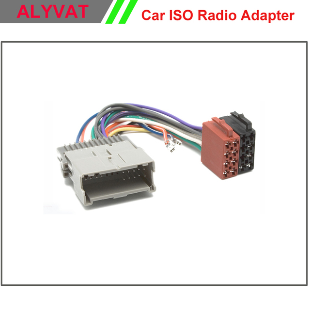 Car ISO Radio Adapter Connector For Buick Chevrolet GMS Hummer