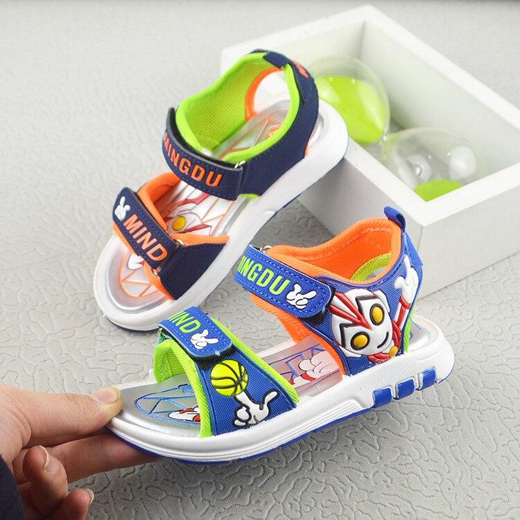 boys Altman sandals 2018 new summer spring Cartoon shoes child beach sandals Kids Sport Brand Light Boys Shoes size 26-31