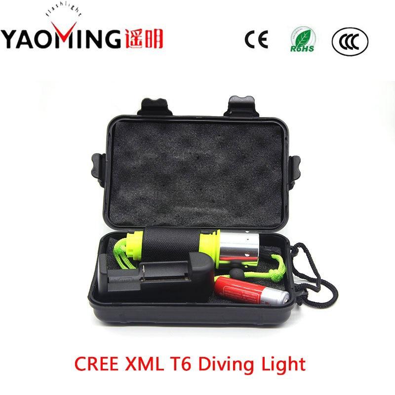 DAY Light CREE XM-L T6 LED 800LM 10W ստորջրյա Scuba - Դյուրակիր լուսավորություն