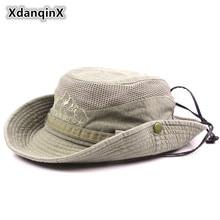 XdanqinX sombrero de hombre adulto de verano de malla de ventilación Retro 100% de algodón sombrero de cubo de la novedad papá visera del Sol de pesca sombrero de playa
