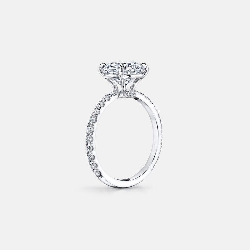 AINUOSHI 3 กะรัตแหวนหมั้นแหวนเงินแท้ 925 พรรค Anel Aneis Anillos สำหรับผู้หญิงการตั้งค่าเจ้าสาวแถบ-ใน ห่วง จาก อัญมณีและเครื่องประดับ บน   3