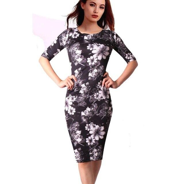 28 Styles Floral Print Women Dress Casual Summer Sheath Plus Size