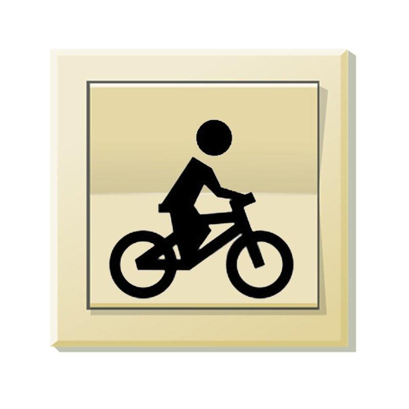Cartoon Villain Cycling Pattern Vinyl Light Switch Sticker Wall Decals 5WS0376