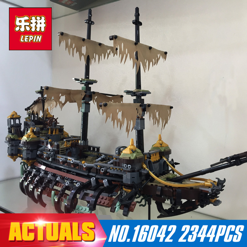 2344Pcs 16042 Lepin New Pirate Ship Series The Slient Mary Set Children Educational Building Blocks Bricks Toys Model Gift 71042 susengo pirate model toy pirate ship 857pcs building block large vessels figures kids children gift compatible with lepin
