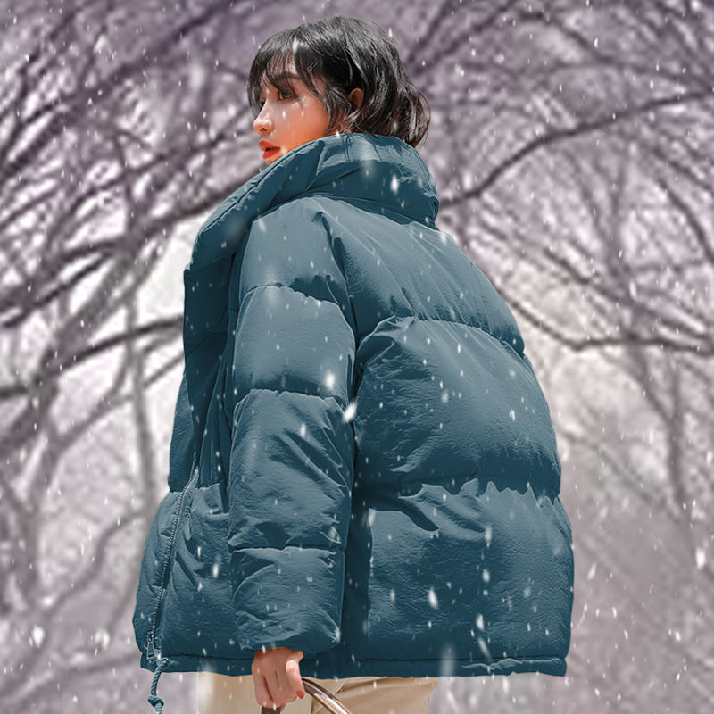 Winter Women's Down Cotton Padded Jacket Women Wadded Jackets Warm Coats Short   Parkas   Oversized Loose Outerwear Coats Female Z36