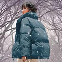 Winter Women's Down Cotton Padded Jacket Women Wadded Jackets Warm Coats Short Parkas Oversized Loose Outerwear Coats Female Z36