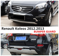 Car BUMPER GUARD For Renault Koleos 2012.2013 BUMPER Plate High Quality ABS Front+Rear Auto Accessories