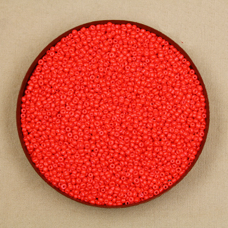Beads Amiable Factory Frice 80g/lot Neon Colour Red 3mm Glass Seed Loose Spacer Beads For Jewelry Making & Diy Craft