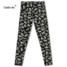 Hot sales new sexy digital printing for crown design women leggings fashion pant capris soft fitness plus size drop shipping