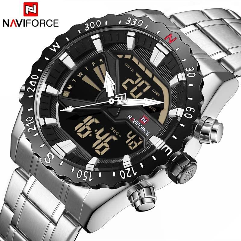 NAVIFORCE Marque De Luxe Mens Quartz Analogique Montre Hommes Mode Sport Montre-Bracelet Étanche Inoxydable Homme Horloge Relogio Masculino