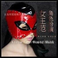 Fashion Faux Leather Women Mask Sexy Realistic Slave Bondage Hood Head Hood Adult Sex Dog Mask Black Fetish Erotic Toys Sex Toys
