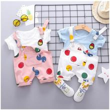 2019 Summer Infant Toddler Clothes Suits  Baby Girls Boys Clothing Sets T Shirt Strap Shorts Kids Children Casual Suit цена и фото