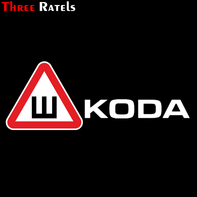 Three Ratels TZ-1013 19*51cm 1-2 pieces car sticker snow-tire sign for skoda funny car stickers auto decals image