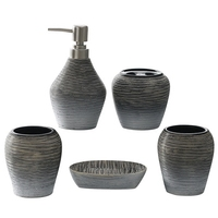 Home Sanitary Set retro ceramic lotion bottles toothbrush holder bathroom accessories bathroom suite toiletries