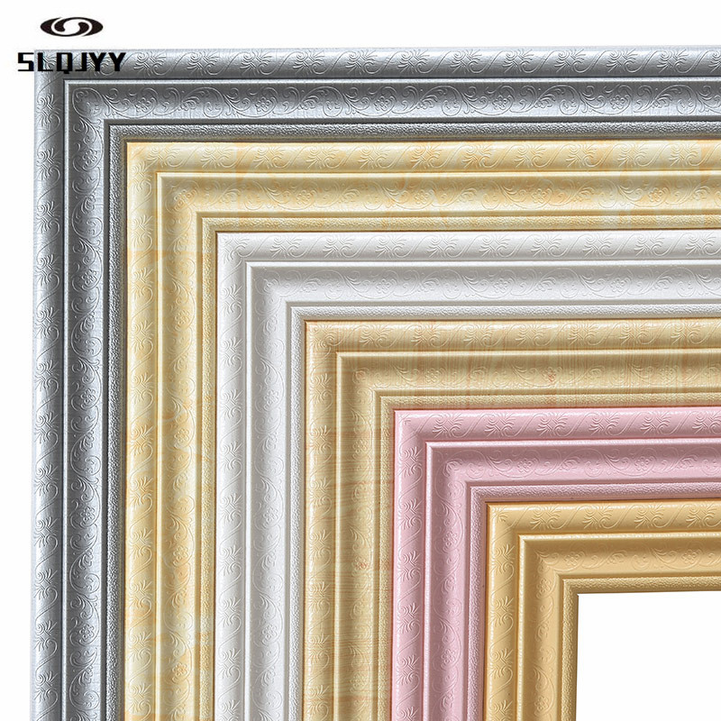 TV Background Wall Border Decorative Strip Ceiling Skirting Waist Line Self-adhesive Wall Stickers Line Stickers Wallpaper(China)