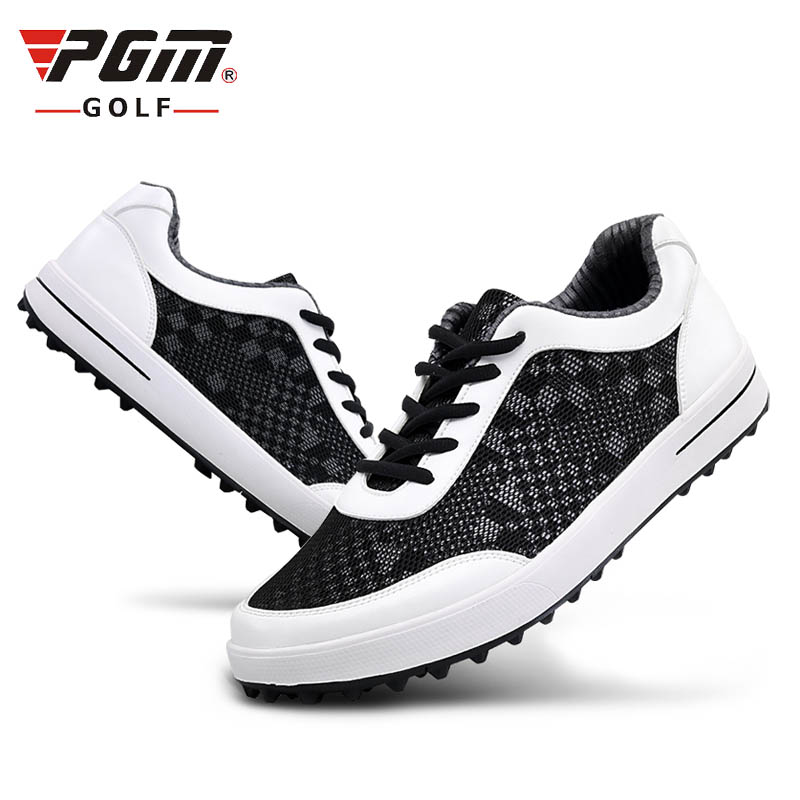 casual sneakers men women sports golf shoes with fixed spikers super breathable mesh fibre cooling  for summer white black simulation mini golf course display toy set with golf club ball flag